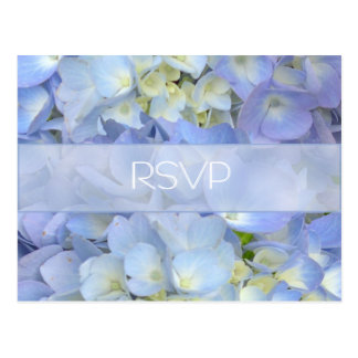 Blue Moon Hydrangea Wedding RSVP Postcard