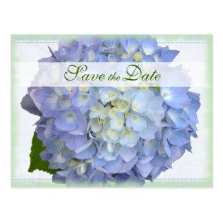 Blue Moon Hydrangea Wedding Save the Date Postcard