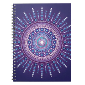 Blue Moon Mandala Notebook