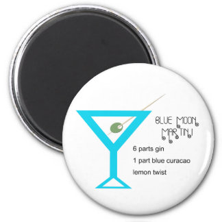Blue Moon Martini Magnet