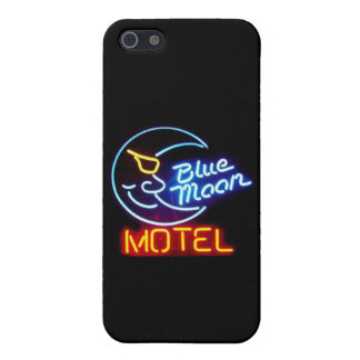 """Blue Moon Motel"" Vintage Neon Signs iPhone 5/5s C iPhone 5 Case"