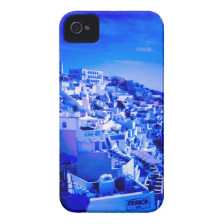 Blue Moon Over Fira Santorini iPhone 4 Cover