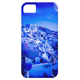 Blue Moon Over Fira Santorini iPhone 5 Covers