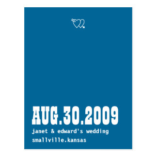 Blue Moon Save the Date Postcard