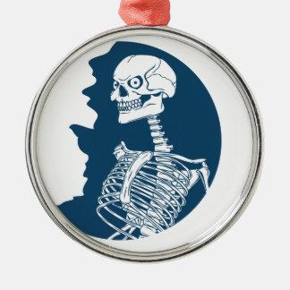 blue moon shirt metal ornament