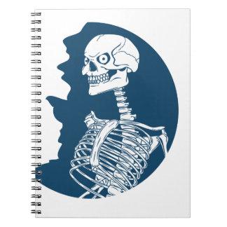 blue moon shirt spiral notebook