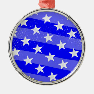 Blue Moon Silver-Colored Round Ornament