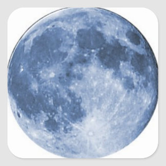 blue moon square sticker