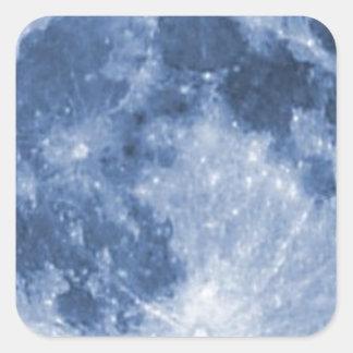 blue moon square sticker
