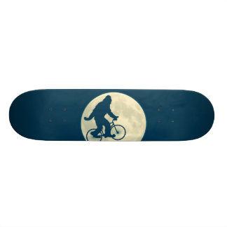 BLUE MOON SQUATCH ON A BIKE SKATEBOARD DECK