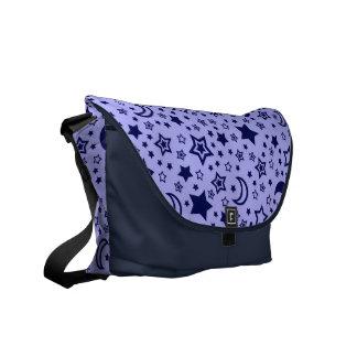Blue Moon & Stars Messenger Bag