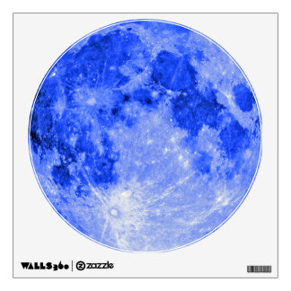 Blue moon wall sticker