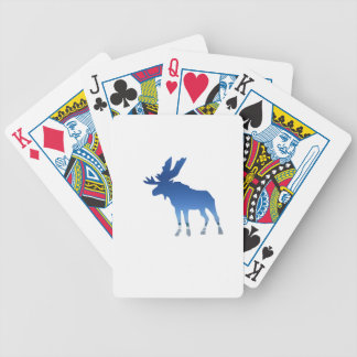 blue moose bicycle playing cards