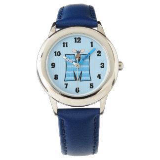 "Blue Moose Letter ""M"" Boys Monogram Watch"