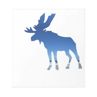 blue moose notepad