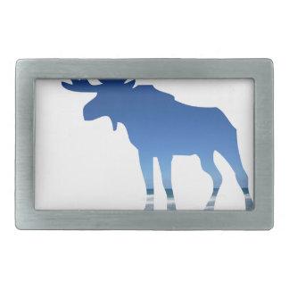 blue moose rectangular belt buckle