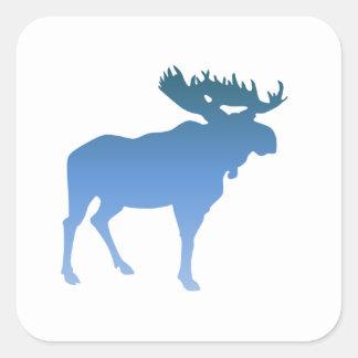 Blue Moose Square Sticker