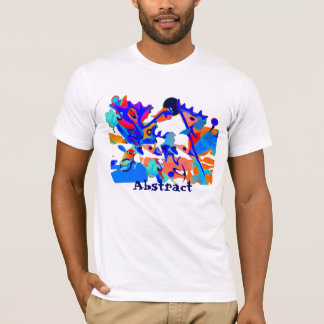 blue moose tee shirt, abstract