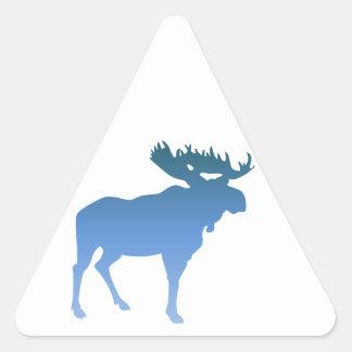 Blue Moose Triangle Sticker