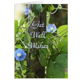Blue Morning Glories- customize any occasion Card