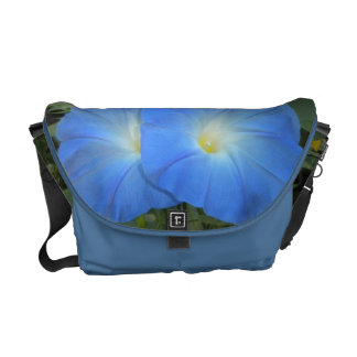 Blue Morning Glories Rickshaw Messenger Bag