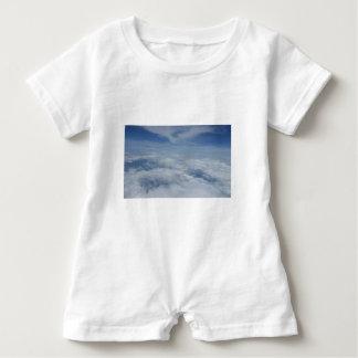 blue morning sky baby romper
