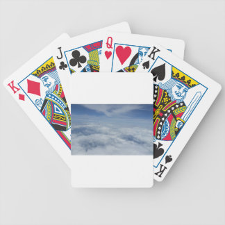 blue morning sky bicycle playing cards