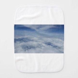 blue morning sky burp cloth
