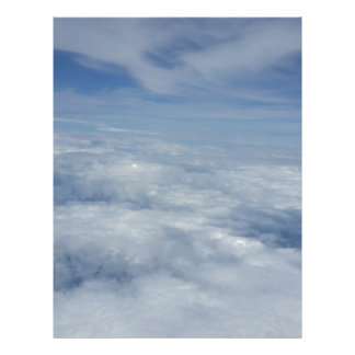 blue morning sky letterhead