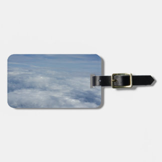blue morning sky luggage tag