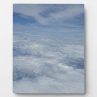 blue morning sky plaque