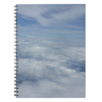 blue morning sky spiral notebook