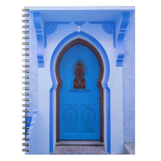 Blue Moroccan Door Notebook