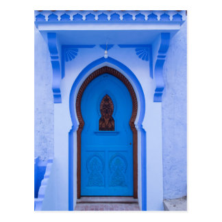 Blue Moroccan Door Postcard