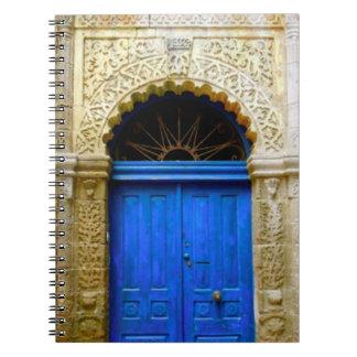 Blue Moroccan Door Spiral Notebook