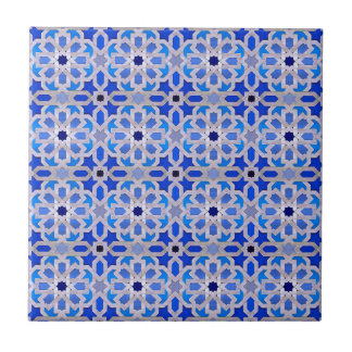 Blue Moroccan Geometric Pattern Tile