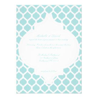Blue Moroccan Pattern Wedding Invitations