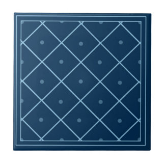 Blue Moroccan Patterned Tile