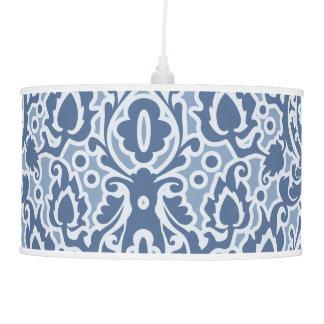 Blue Morocco Elegant Casbah Damask Hanging Pendant Lamp