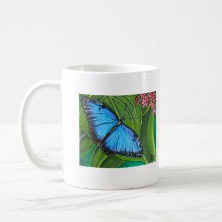 Blue Morpho Basic White Mug