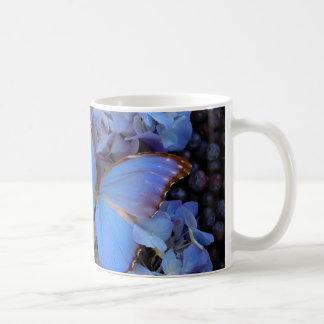 Blue Morpho Buterfly Basic White Mug