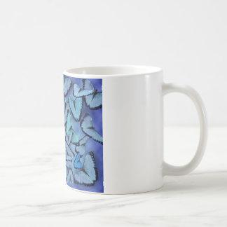 Blue Morpho Butterflies Classic White Coffee Mug