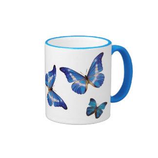 Blue Morpho Butterflies Coffee Mug