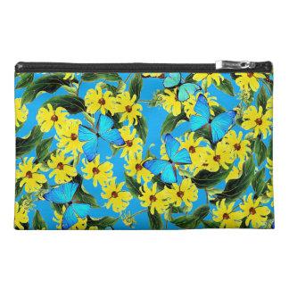 Blue Morpho Butterflies Flowers Accessory Bag