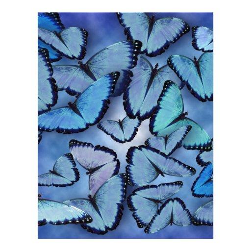Blue Morpho Butterflies Letterhead