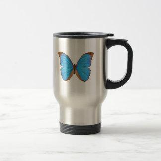 Blue Morpho Butterfly 15 Oz Stainless Steel Travel Mug