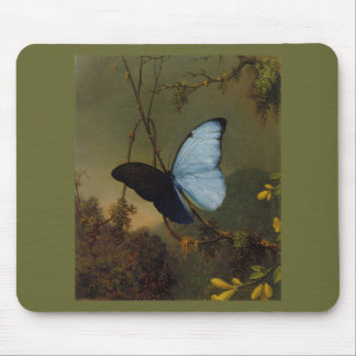 Blue Morpho Butterfly 1865 Spring Personalize Art Mouse Pads