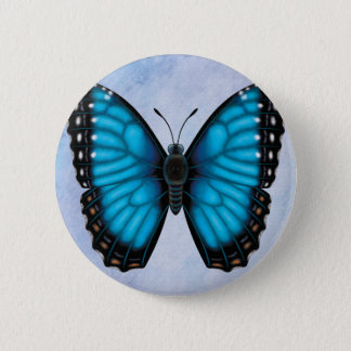 Blue Morpho Butterfly 2 Inch Round Button