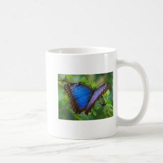 Blue Morpho Butterfly 5x7 Classic White Coffee Mug