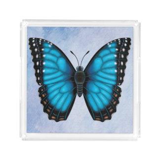 Blue Morpho Butterfly Acrylic Tray